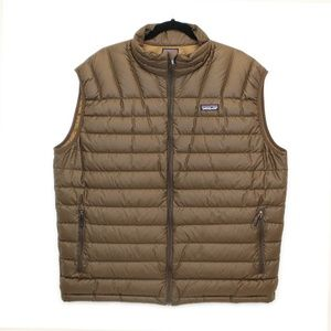 Patagonia Brown Goose Down Quilted Vest